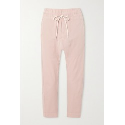 Bassike - Cropped Cotton Track Pants - Pink found on MODAPINS from NET-A-PORTER for USD $206.50