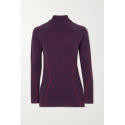 FALKE ERGONOMIC SPORT SYSTEM - Stretch-knit Turtleneck Top - Burgundy found on Bargain Bro from NET-A-PORTER for USD $91.20