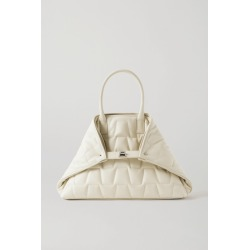 Akris - Ai Messenger Small Convertible Quilted Leather Tote - Off-white found on MODAPINS from NET-A-PORTER UK for USD $1882.43
