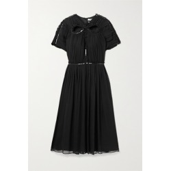 Jason Wu - Cutout Sequin-embellished Silk-georgette Dress - Black found on MODAPINS from NET-A-PORTER UK for USD $783.35