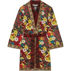 Alice Olivia - Lynn Jacquard-trimmed Printed Crepe De Chine Kimono - Red found on MODAPINS from NET-A-PORTER for USD $440.00