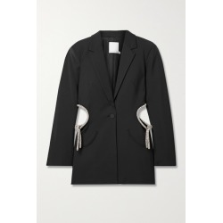 Christopher Esber - Crystal-embellished Cutout Wool-blend Blazer - Black found on MODAPINS from NET-A-PORTER for USD $2145.00