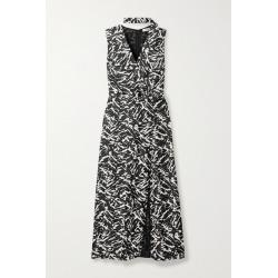 Jason Wu - Zebra-print Silk-twill Midi Dress - Zebra print found on MODAPINS from NET-A-PORTER UK for USD $673.30