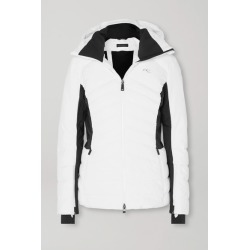 Kjus - Duana Two-tone Hooded Quilted Down Ski Jacket - White found on MODAPINS from NET-A-PORTER UK for USD $352.76