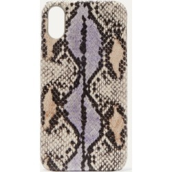 The Case Factory - Snake-effect Leather Iphone Xr Case - Lilac
