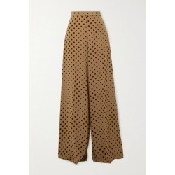 Michael Kors Collection - Polka-dot Silk Crepe De Chine Wide-leg Pants - Beige found on Bargain Bro India from NET-A-PORTER for $1150.00