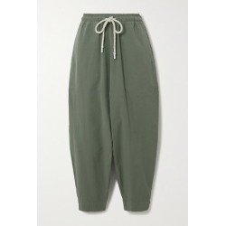 Bassike - Cotton Track Pants - Gray green found on MODAPINS from NET-A-PORTER for USD $300.00