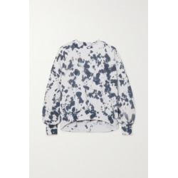 Bassike - Cutout Tie-dyed Cotton-jersey Sweatshirt - Navy found on MODAPINS from NET-A-PORTER UK for USD $232.96