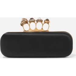 Alexander McQueen - Knuckle Embellished Satin Clutch - Black found on MODAPINS from NET-A-PORTER UK for USD $2316.15