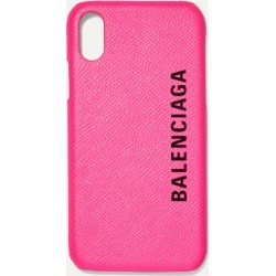 Balenciaga - Printed Textured-leather Iphone X Case - Pink