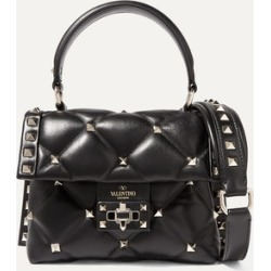 Valentino - Valentino Garavani Candystud Mini Quilted Leather Shoulder Bag - Black found on MODAPINS from NET-A-PORTER UK for USD $1728.17