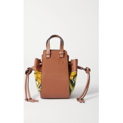 Loewe - Hammock Mini Embroidered Linen And Textured-leather Shoulder Bag - Yellow found on Bargain Bro UK from NET-A-PORTER UK