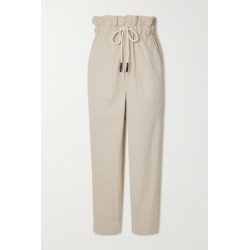 Bassike - Dobby Cotton-blend Corduroy Track Pants - Cream found on MODAPINS from NET-A-PORTER for USD $216.00
