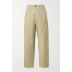 Isabel Marant Étoile - Raluni Cotton And Linen-blend Tapered Pants - Camel found on Bargain Bro UK from NET-A-PORTER UK