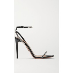 Aquazzura - Very Vera 105 Crystal-embellished Suede Sandals - Black found on Bargain Bro India from NET-A-PORTER for $497.50