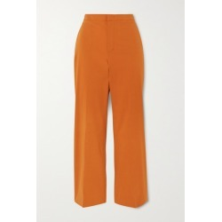 Loro Piana - Cotton-blend Twill Straight Leg Pants - Coral found on MODAPINS from NET-A-PORTER for USD $875.00
