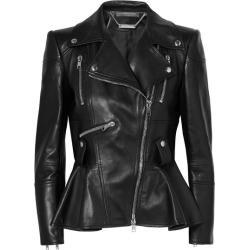 Alexander McQueen - Leather Peplum Biker Jacket - Black found on MODAPINS from NET-A-PORTER UK for USD $4267.67