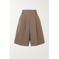 Brunello Cucinelli - + Space For Giants Pleated Twill Shorts - Beige found on Bargain Bro UK from NET-A-PORTER UK