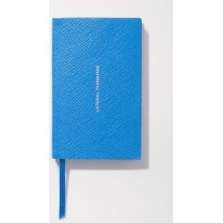 Smythson - Panama Lateral Thinking Textured-leather Notebook - Blue found on Bargain Bro Philippines from NET-A-PORTER for $80.00