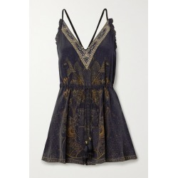 Camilla - Embellished Silk Crepe De Chine Playsuit - Black found on MODAPINS from NET-A-PORTER for USD $173.70