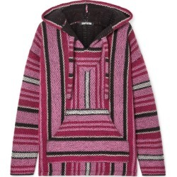 Adaptation - Baja Striped Cashmere Hoodie - Pink found on MODAPINS from NET-A-PORTER for USD $1595.00