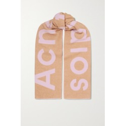 Acne Studios - Two-tone Intarsia Wool-blend Scarf - Camel found on Bargain Bro UK from NET-A-PORTER UK