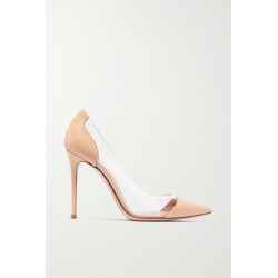 Gianvito Rossi - Plexi 105 Patent-leather And Pvc Pumps - Neutral found on Bargain Bro India from NET-A-PORTER for $795.00
