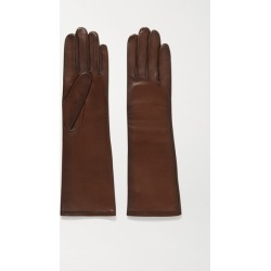 Agnelle - Celia Leather Gloves - Chocolate found on MODAPINS from NET-A-PORTER for USD $78.75
