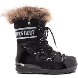 Moon Boot - Monaco Faux Fur-trimmed Shell-piqué And Faux Leather Snow Boots - Black