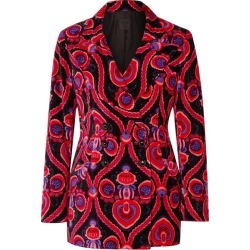 Anna Sui - Arabesque Double-breasted Printed Cotton-velvet Blazer - Pink found on MODAPINS from NET-A-PORTER UK for USD $975.09