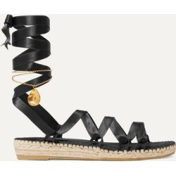 Alighieri - Teardrops On The Dancefloor Embellished Satin Espadrilles - Black found on MODAPINS from NET-A-PORTER for USD $420.00