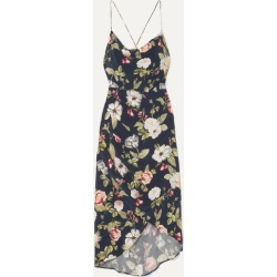Alice Olivia - Reena Wrap-effect Floral-print Matte-satin Dress - Navy found on MODAPINS from NET-A-PORTER for USD $192.00