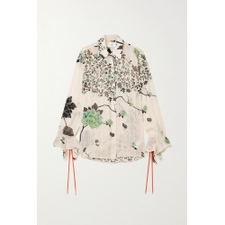 VICTORIA, VICTORIA BECKHAM - Floral-print Crepon Shirt - Cream found on Bargain Bro India from NET-A-PORTER for $505.00