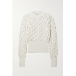 Moncler - Open-knit Cotton Sweater - White found on Bargain Bro UK from NET-A-PORTER UK