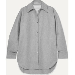 Acne Studios - Sarwin Oversized Wool-blend Flannel Shirt - Gray found on Bargain Bro UK from NET-A-PORTER UK