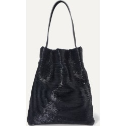 TL-180 - Fazzoletto Ribbed Patent-leather Shoulder Bag - Navy found on MODAPINS from NET-A-PORTER UK for USD $317.68