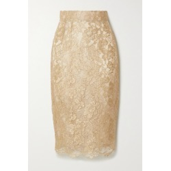 Dolce & Gabbana - Metallic Lace Midi Skirt - Gold found on Bargain Bro India from NET-A-PORTER for $1345.00