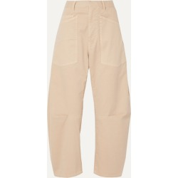 Nili Lotan - Shon Cotton-blend Twill Tapered Pants - Beige found on Bargain Bro UK from NET-A-PORTER UK
