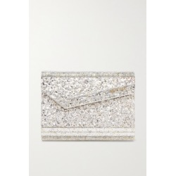 Jimmy Choo - Candy Glittered Acrylic Clutch - Silver found on MODAPINS from NET-A-PORTER UK for USD $687.83