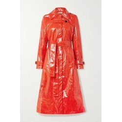 Beaufille - Fini Belted Pu Trench Coat - Tomato red found on MODAPINS from NET-A-PORTER for USD $682.50
