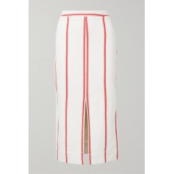 Bassike - Striped Cotton Midi Skirt - Cream found on MODAPINS from NET-A-PORTER for USD $420.00
