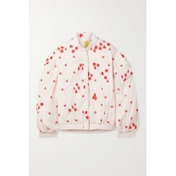 Moncler Genius - + 4 Simone Rocha Persea Appliquéd Embroidered Shell Down Bomber Jacket - Pastel pink found on Bargain Bro UK from NET-A-PORTER UK