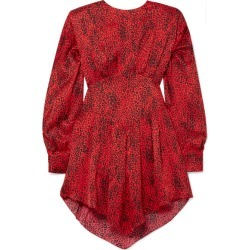 Alessandra Rich - Leopard-print Silk-jacquard Mini Dress - Red found on MODAPINS from NET-A-PORTER UK for USD $1639.92