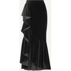 Alice Olivia - Arianna Ruffled Velvet Maxi Skirt - Black found on MODAPINS from NET-A-PORTER for USD $660.00