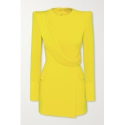 Alex Perry - Rae Draped Satin-crepe Mini Dress - Yellow found on MODAPINS from NET-A-PORTER UK for USD $1773.75