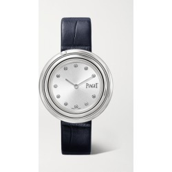 Piaget - Possession 34mm Stainless Steel, Alligator And Diamond Watch - Silver found on MODAPINS from NET-A-PORTER UK for USD $5508.36