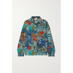Le Sirenuse Positano - Penny Printed Cotton Shirt - Blue found on MODAPINS from NET-A-PORTER for USD $248.22