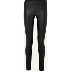 The Row - Moto Stretch-leather Leggings - Black