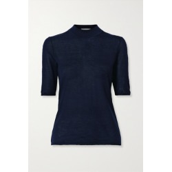 Gabriela Hearst - Hugo Cashmere And Silk-blend Top - Midnight blue found on Bargain Bro India from NET-A-PORTER for $550.00