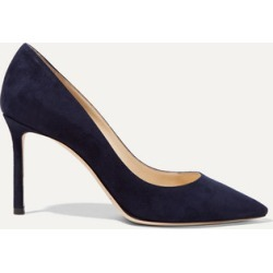 Jimmy Choo - Romy 85 Suede Pumps - Navy found on Bargain Bro UK from NET-A-PORTER UK